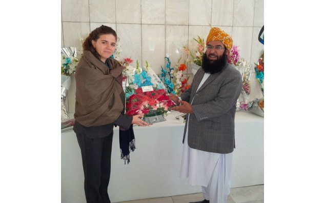 Maulana Abdul Ghafoor Haideri, Deputy Chairman Senate, and Vice-President of Jamiat Ulema-e-Islam-F, present condolences at the French Embassy in Pakistan