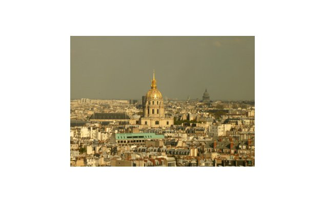 Dome of the Hôtel des Invalides with the Panthéon in the distance
