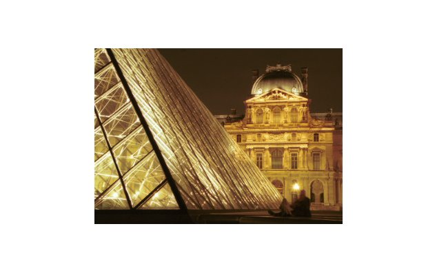 The Grand Louvre courtyard and pyramid (Architect Pei).