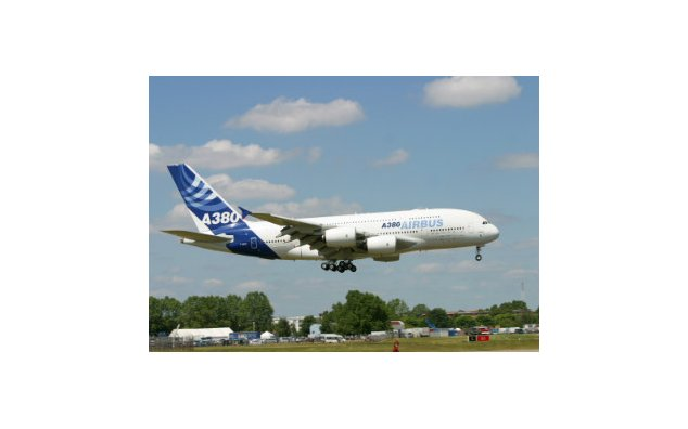 The 2005 Bourget Airshow Airbus A380, world's largest airliner