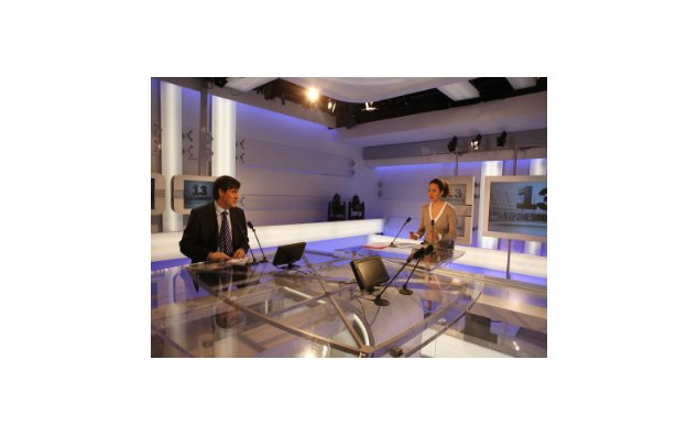 News broadcast on the French National Assembly television channel © MAEE FDLM