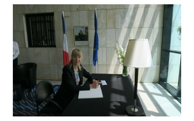 The Ambassador of Germany signing condolence book at the French Embassy Islamabad, on 19 July 2016.
